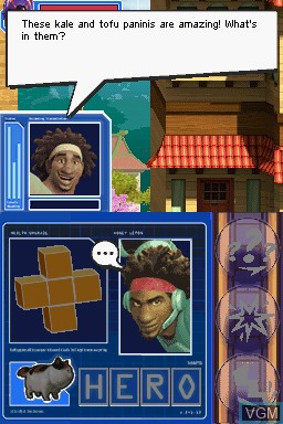 Image du menu du jeu Disney Big Hero 6 - Battle in the Bay sur Nintendo DS