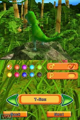 Image du menu du jeu Dino Pets - The Virtual Pet Game sur Nintendo DS