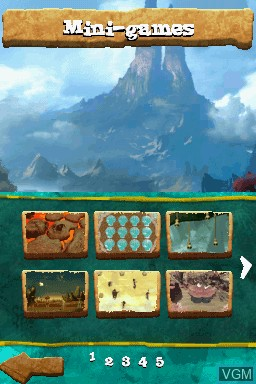 Image du menu du jeu Croods, The - Prehistoric Party! sur Nintendo DS