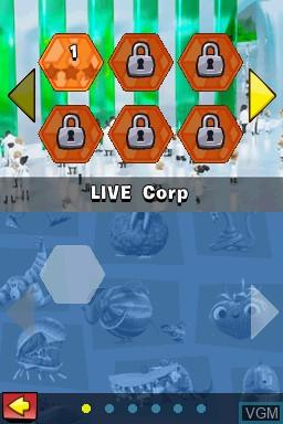 Image du menu du jeu Cloudy with a Chance of Meatballs 2 sur Nintendo DS