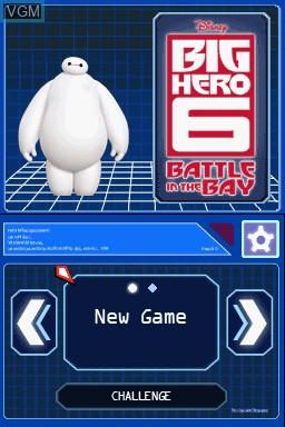 Image du menu du jeu Disney Two Pack - Frozen Olaf's Quest + Big Hero 6 - Battle in the Bay sur Nintendo DS