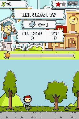 Image in-game du jeu Scribblenauts Collection sur Nintendo DS