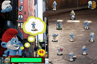 Image in-game du jeu Smurfs Collection, The sur Nintendo DS
