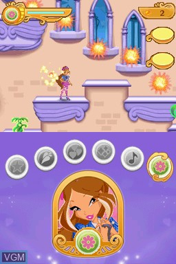 Image in-game du jeu Winx Club - Saving Alfea sur Nintendo DS