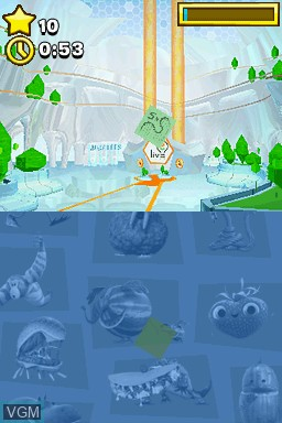 Image in-game du jeu Cloudy with a Chance of Meatballs 2 sur Nintendo DS