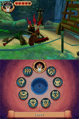 Image in-game du jeu LEGO Legends of Chima - Laval's Journey sur Nintendo DS