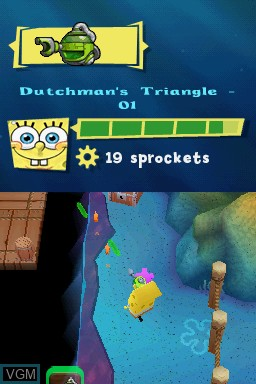 Image in-game du jeu SpongeBob SquarePants - Plankton's Robotic Revenge sur Nintendo DS
