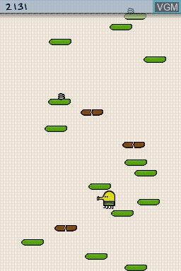Image in-game du jeu Doodle Jump Journey sur Nintendo DS