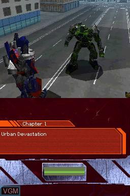 Image in-game du jeu Transformers - Ultimate Autobots Edition sur Nintendo DS