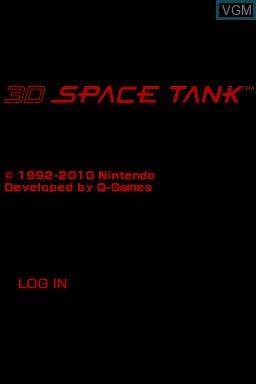 Image de l'ecran titre du jeu 3D Space Tank sur Nintendo DSi