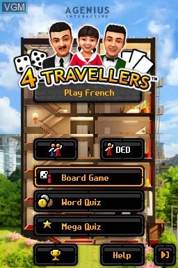 Image de l'ecran titre du jeu 4 Travellers - Play French sur Nintendo DSi