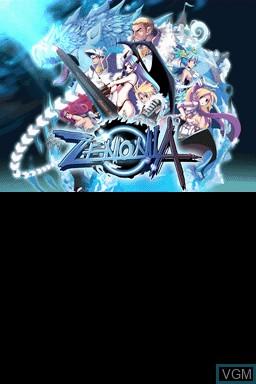 Image de l'ecran titre du jeu Zenonia sur Nintendo DSi