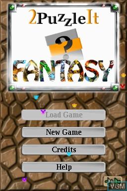 Image de l'ecran titre du jeu 2Puzzle It - Fantasy sur Nintendo DSi