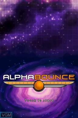 Image de l'ecran titre du jeu AlphaBounce sur Nintendo DSi
