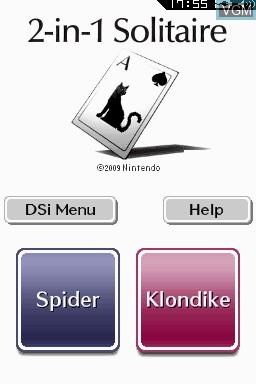 Image de l'ecran titre du jeu 2-in-1 Solitaire sur Nintendo DSi