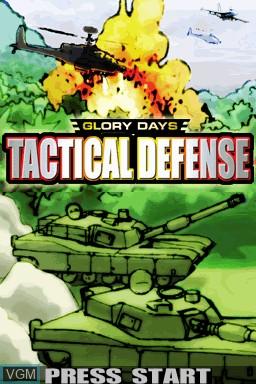Image de l'ecran titre du jeu Glory Days - Tactical Defense sur Nintendo DSi