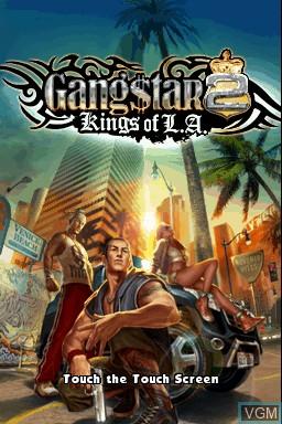 Image de l'ecran titre du jeu Gangstar 2 - Kings of L.A. sur Nintendo DSi