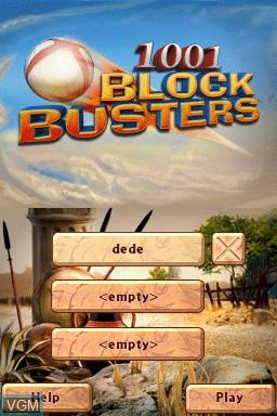 Image de l'ecran titre du jeu 1001 Blockbusters sur Nintendo DSi