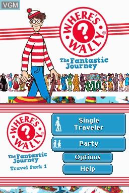 Image de l'ecran titre du jeu Where's Wally - The Fantastic Journey - Travel Pack 1 sur Nintendo DSi
