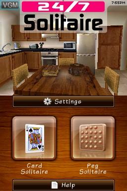 Image de l'ecran titre du jeu 24-7 Solitaire sur Nintendo DSi