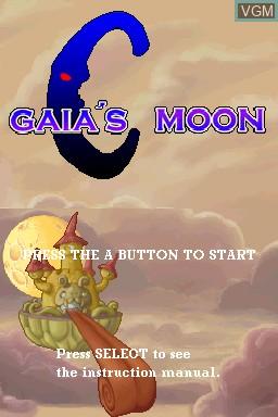 Image de l'ecran titre du jeu Gaia's Moon sur Nintendo DSi