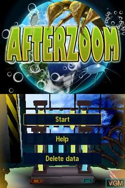 Image de l'ecran titre du jeu Afterzoom sur Nintendo DSi