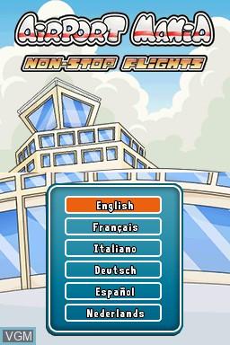 Image de l'ecran titre du jeu Airport Mania - Non-Stop Flights sur Nintendo DSi