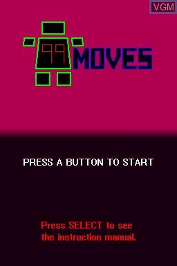 Image de l'ecran titre du jeu 99Moves sur Nintendo DSi