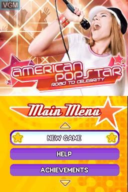 Image de l'ecran titre du jeu American Popstar - Road to Celebrity sur Nintendo DSi