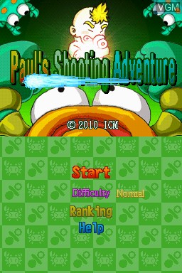 Image de l'ecran titre du jeu Paul's Shooting Adventure sur Nintendo DSi