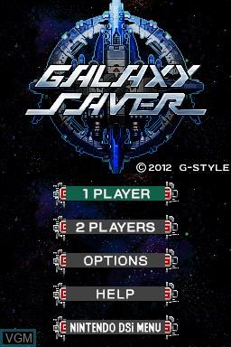 Image de l'ecran titre du jeu Galaxy Saver sur Nintendo DSi