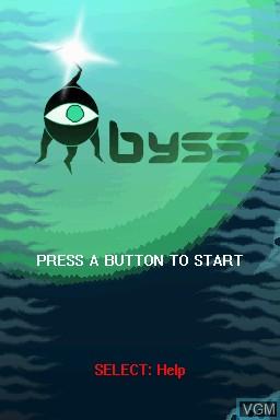 Image de l'ecran titre du jeu Abyss sur Nintendo DSi