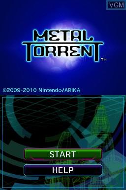 Image de l'ecran titre du jeu Metal Torrent sur Nintendo DSi