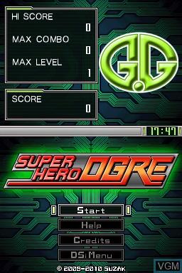 Image de l'ecran titre du jeu G.G Series - Super Hero Ogre sur Nintendo DSi