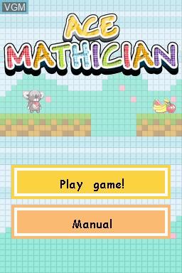 Image de l'ecran titre du jeu Ace Mathician sur Nintendo DSi