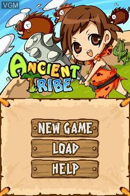 Image de l'ecran titre du jeu Ancient Tribe sur Nintendo DSi