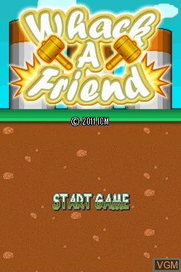 Image de l'ecran titre du jeu Whack-A-Friend sur Nintendo DSi