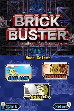 Image de l'ecran titre du jeu Absolute BrickBuster sur Nintendo DSi