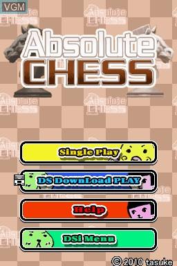 Image de l'ecran titre du jeu Absolute Chess sur Nintendo DSi