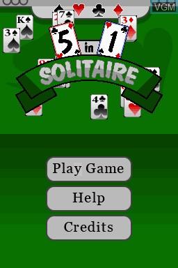 Image de l'ecran titre du jeu 5 in 1 Solitaire sur Nintendo DSi
