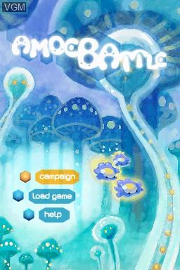Image de l'ecran titre du jeu Amoebattle sur Nintendo DSi