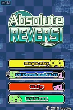 Image de l'ecran titre du jeu Absolute Reversi sur Nintendo DSi