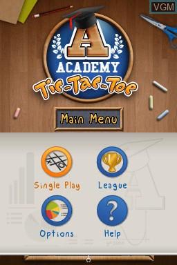 Image de l'ecran titre du jeu Academy - Tic-Tac-Toe sur Nintendo DSi