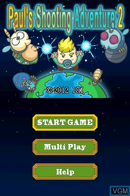 Image de l'ecran titre du jeu Paul's Shooting Adventure 2 sur Nintendo DSi
