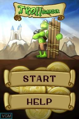 Image de l'ecran titre du jeu Trollboarder sur Nintendo DSi