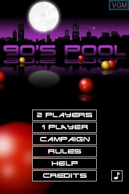 Image de l'ecran titre du jeu 90's Pool sur Nintendo DSi