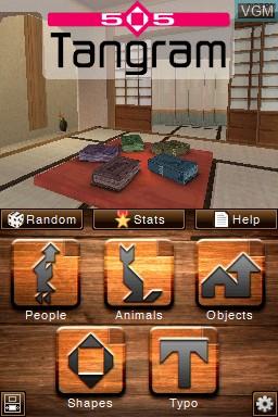 Image de l'ecran titre du jeu 505 Tangram sur Nintendo DSi