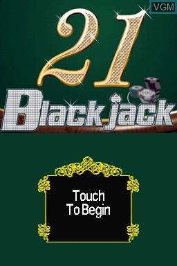 Image de l'ecran titre du jeu 21 - Blackjack sur Nintendo DSi
