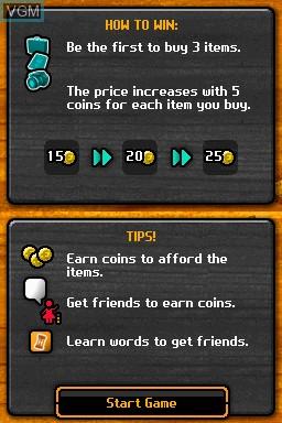 Image du menu du jeu 4 Travellers - Play French sur Nintendo DSi