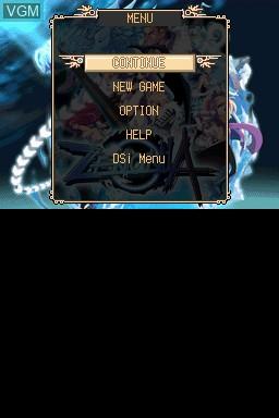 Image du menu du jeu Zenonia sur Nintendo DSi